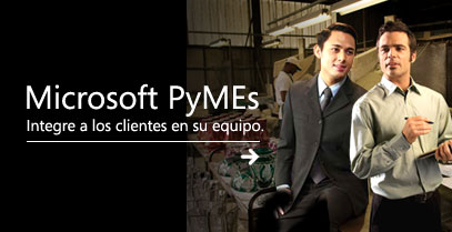 Portal de Microsoft para las Pequeñas y Medianas Empresas