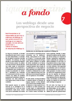 Los weblogs desde una perspectiva de negocio